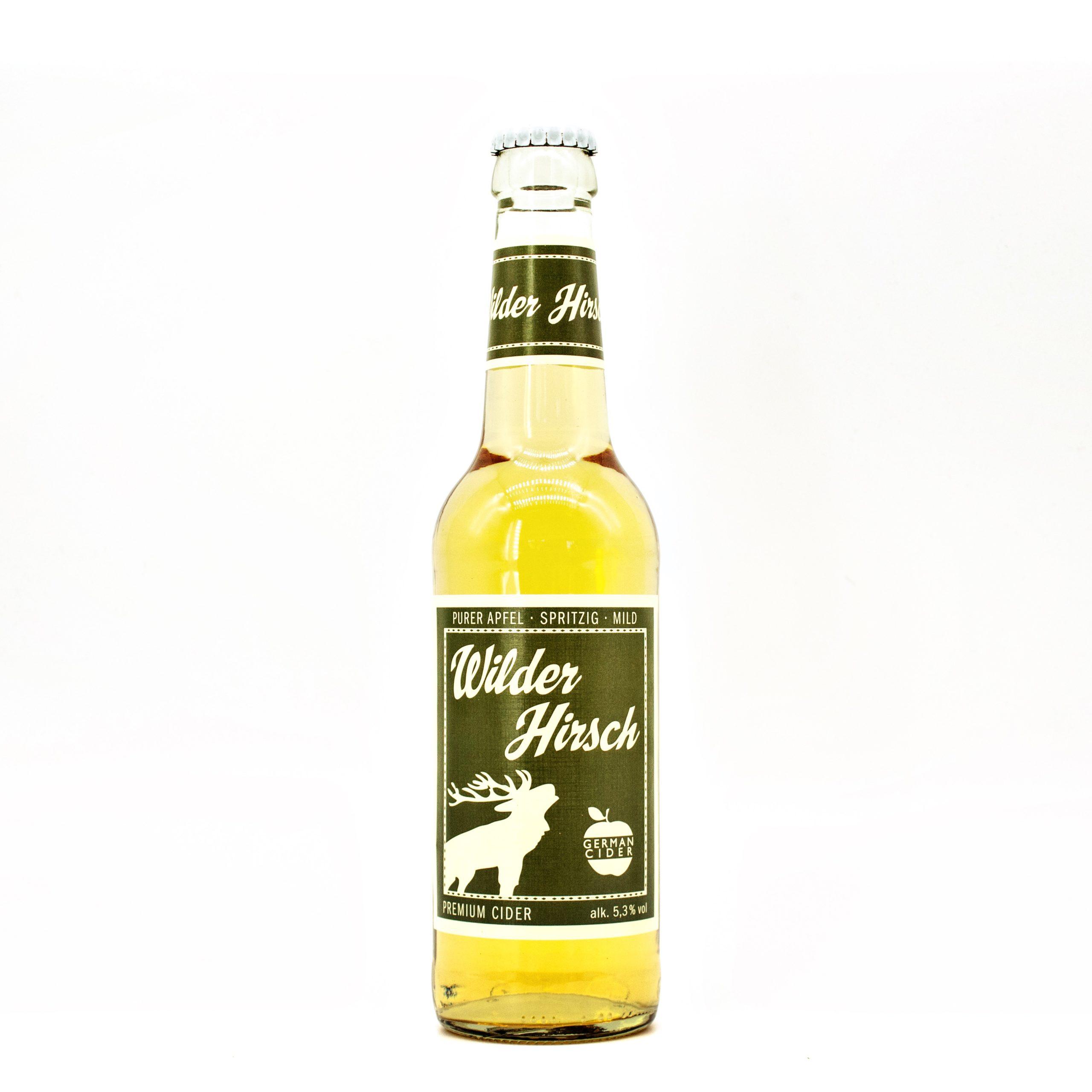 Purer Apfel, spritzig und mild! Wilder Hirsch!