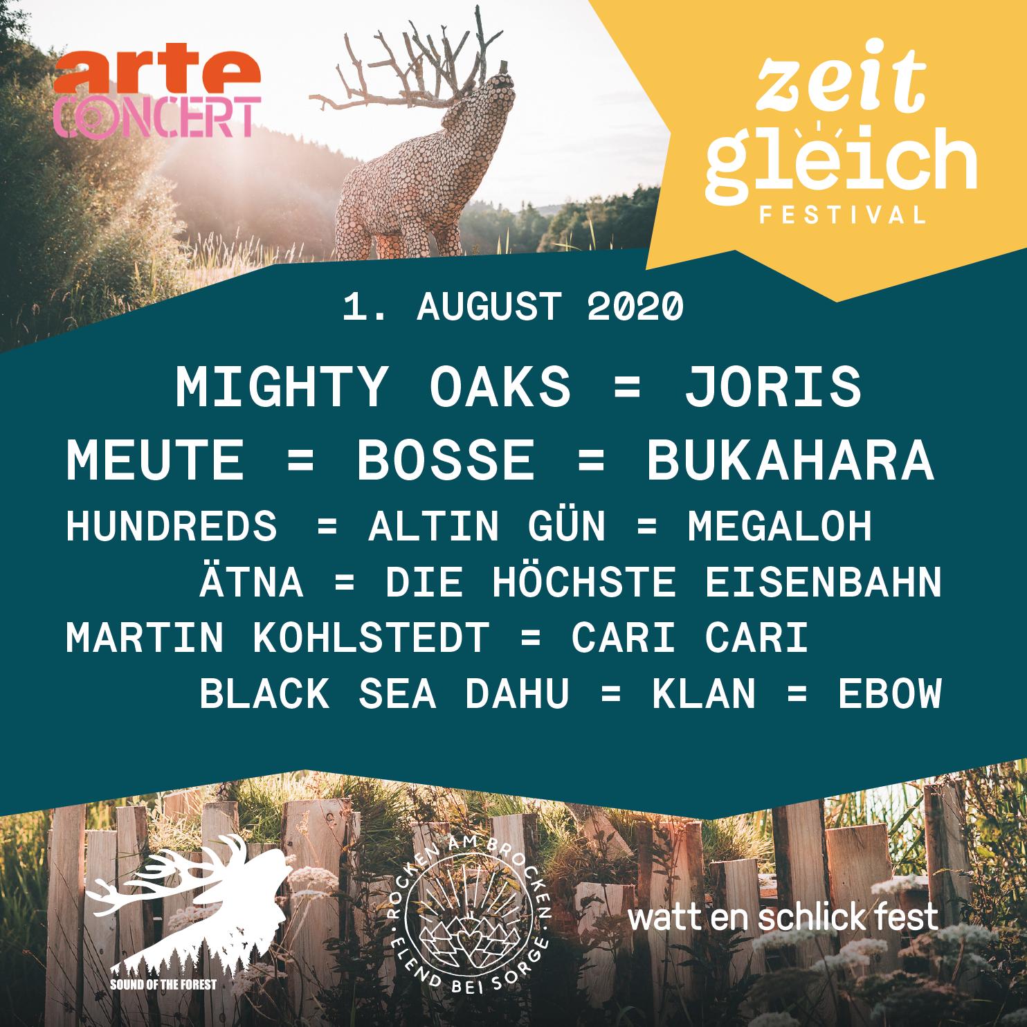 Arte Zeitgleich Festival – Sound of the Forest und Wilder Hirsch dabei!